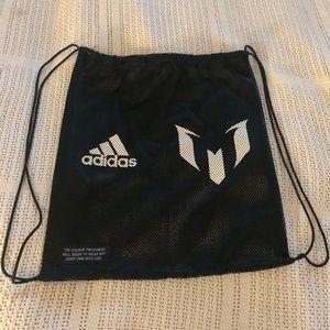 ADIDAS-Drawstring Mesh Net Shoe Bag
